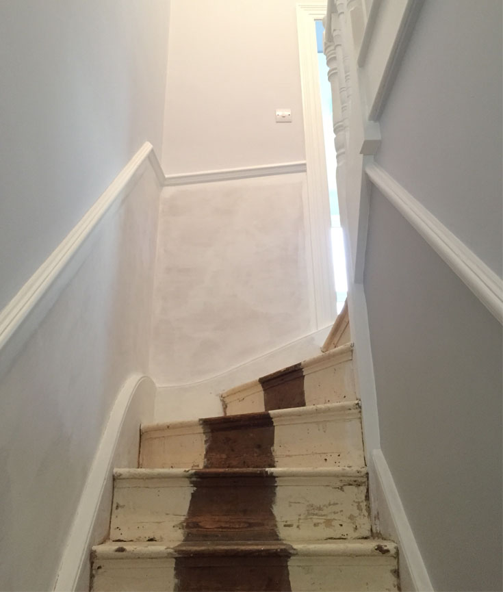 Our Den Stripping Paint On Stairs